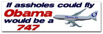Obama: 747 Sticker (Bumper)