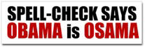 Spell Check Obama Sticker (Bumper)