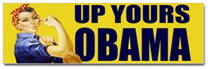 Up Yours Obama Sticker (Bumper 50 pk)