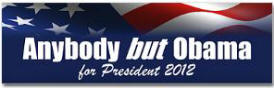 Anybody But Obama Sticker (Bumper 10 pk)