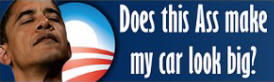 Obama Ass 2012 Sticker (Bumper)