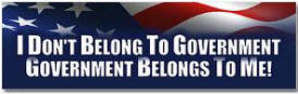 i don't belong to government - anti obama
