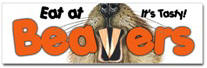 Eat At Beavers Sticker (Bumper)