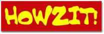 Howzit Sticker (Bumper)