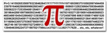 Pi = 3.1415926535897932384626 Sticker (Bumper)