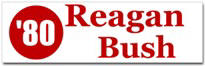 Reagan Bush Sticker (Bumper)