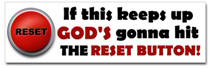 God's Reset Button Sticker (Bumper)