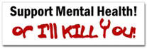 Support Mental Health Sticker (Bumper)