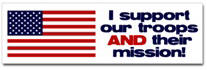 Troops & Mission Sticker (Bumper)
