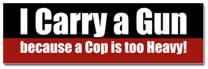 I carry a GUN Sticker (Bumper)